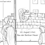 Coloring page construction of the wall History of Germany