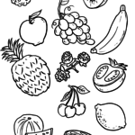 Fruit coloring pages - food and drink