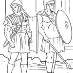 Malvorlage Römische Soldaten | Römer Geschichte