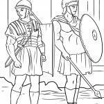 Malvorlage römische Soldaten / Legionäre zum Ausmalen