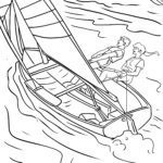 Coloring Pages Water Sports | Sport in the water
