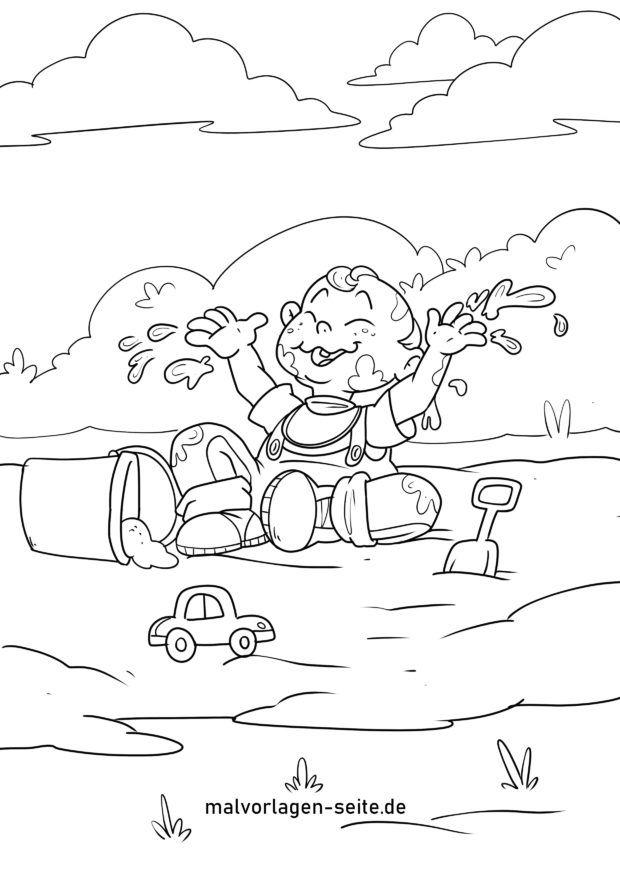 Farvelægning Spil i mudderet