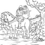 Coloring page St. Martin coat sharing | public holidays