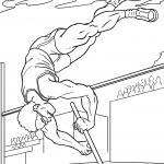 Coloring page pole vaulter for coloring