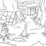 Väritys sivu Kivikauden luola | historia