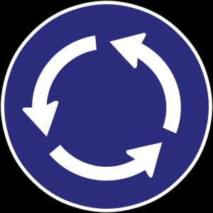 Malvorlage Kreisverkehr Verkehrszeichen - Kostenlose Ausmalbilder