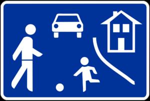 Verkehrszeichen Verkehrsberuhigter Bereich - Kostenlose Ausmalbilder