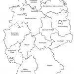 Karta Njemačke sa saveznim državama označenima crno-bijelo