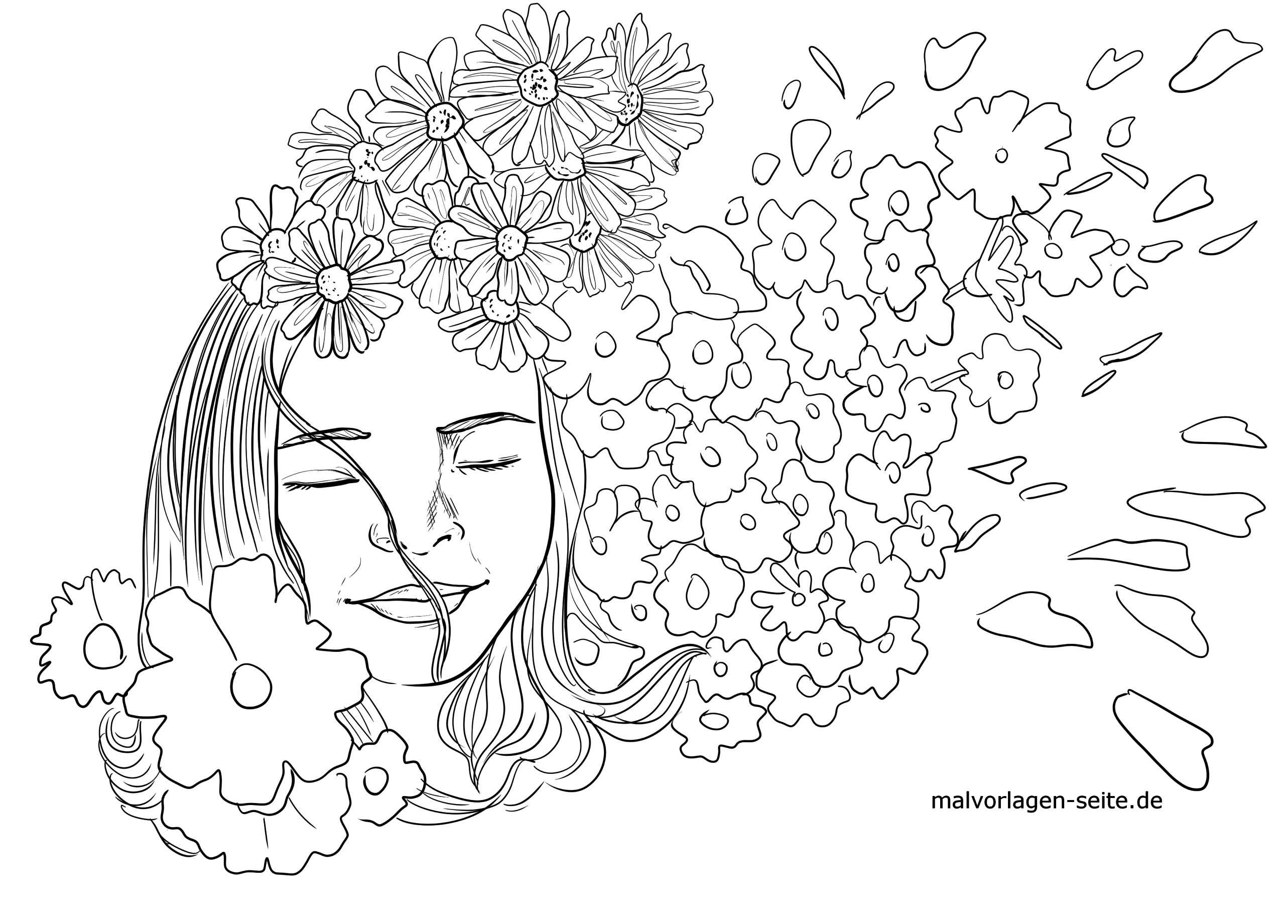 Malvorlage Blumenmadchen Personen Kinder Kostenlose Ausmalbilder