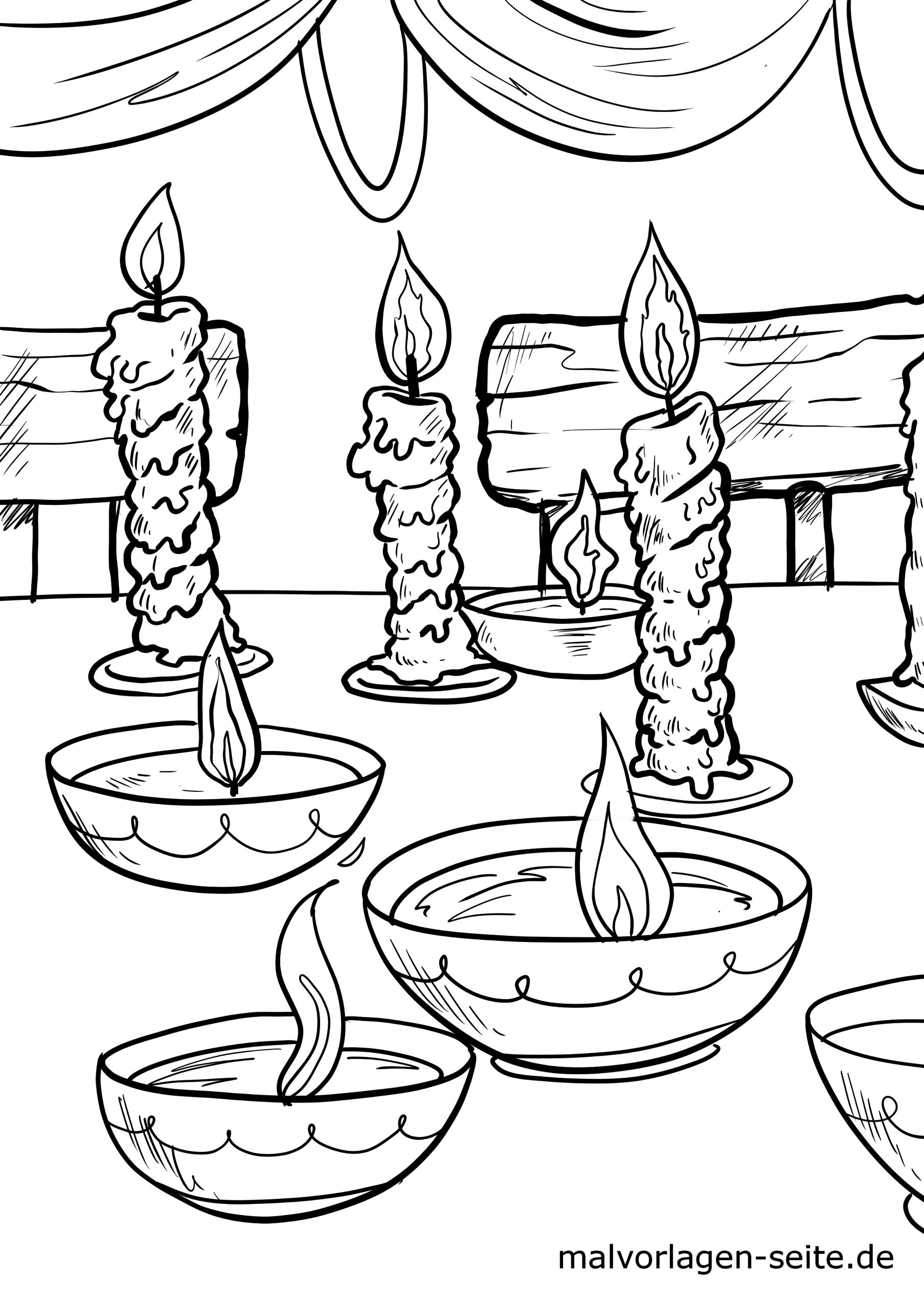 malvorlage diwali lichterfest  feiertage reisen
