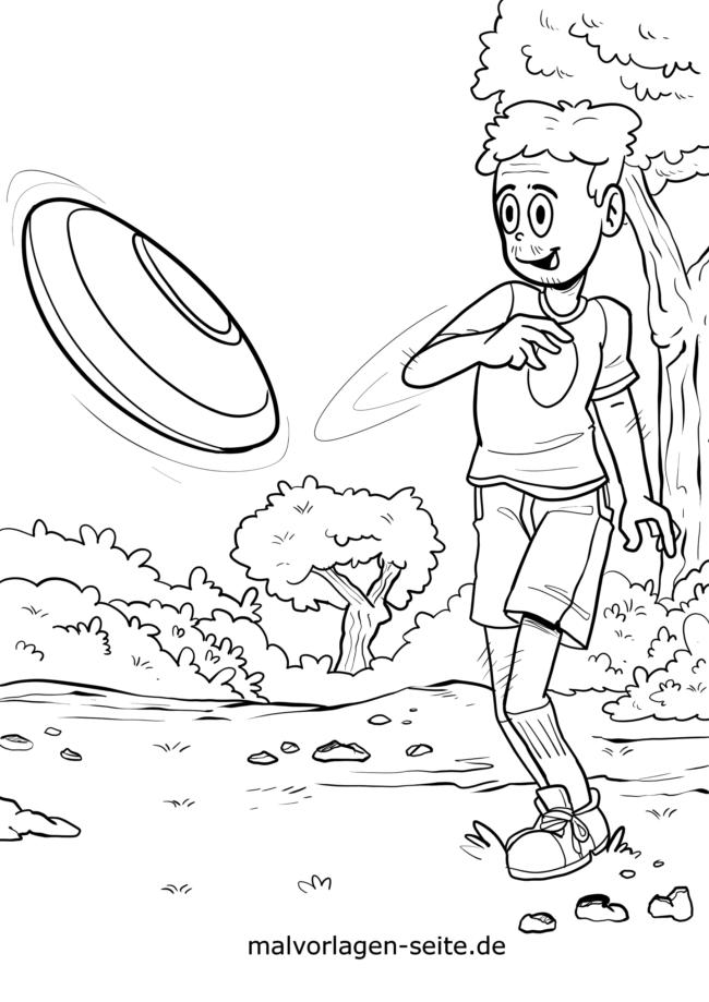 Malvorlage Frisbee