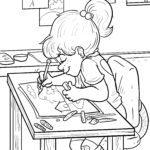 Malvorlage Hausaufgaben | Schule