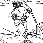 Coloring page play lacrosse for coloring
