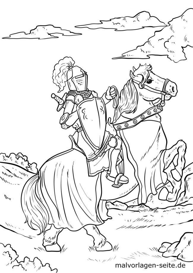 malvorlage mittelalter ritter  ausmalbilder kostenlos