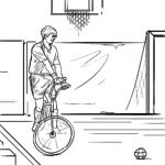 Sahifadagi velosiped to'pini bo'yash