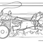 Coloring page Roman chariot | Romans story