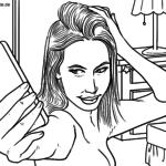 Malvorlage Sexting | Prävention Internet Medien