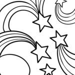 Coloring page shooting star star