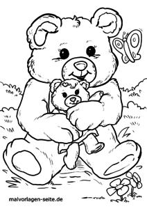 Coloring page teddy bear | Teddy for coloring