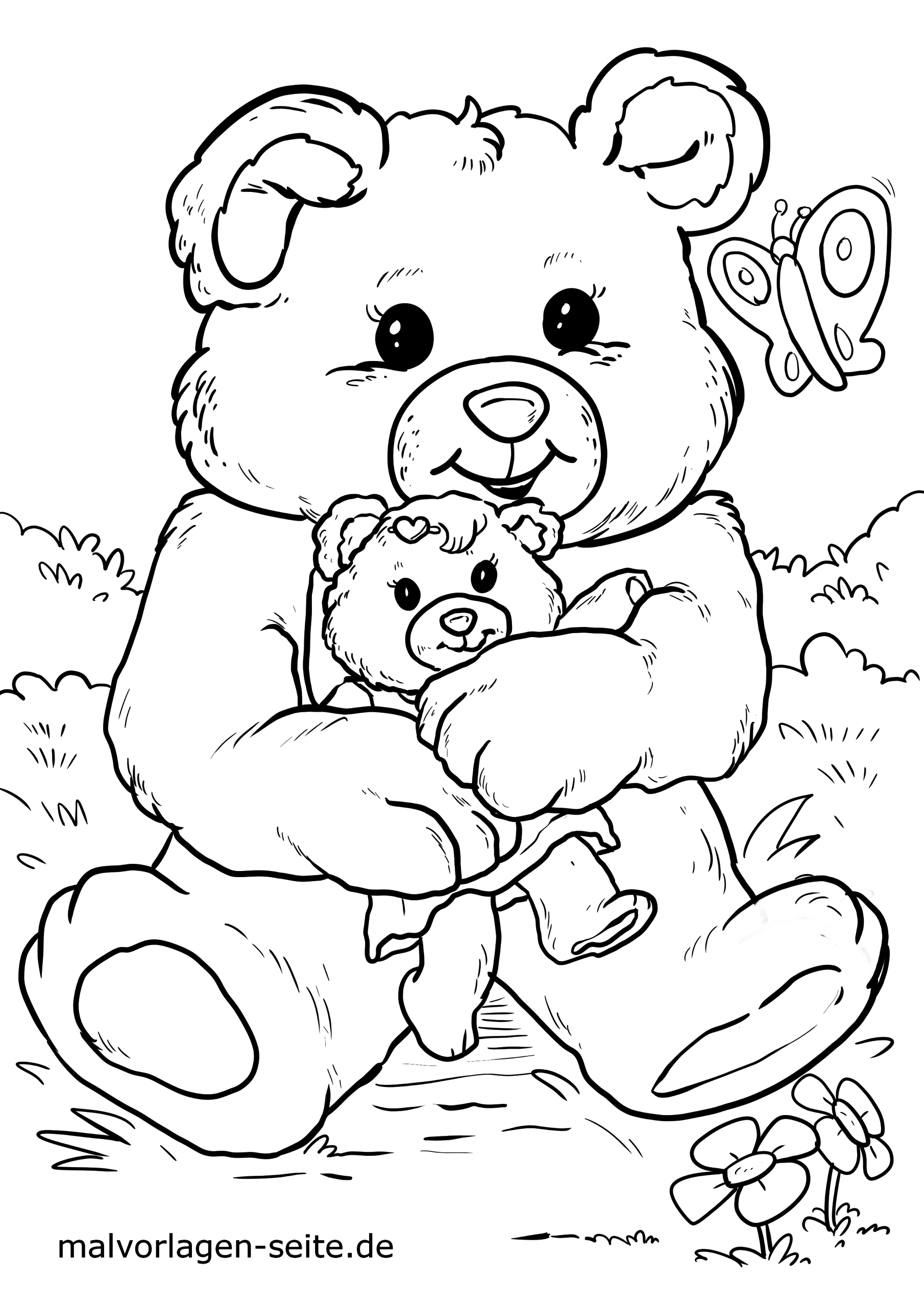 malvorlage teddybär | kinder - kostenlose ausmalbilder