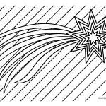 Coloring page Christmas star for coloring for children