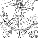 Coloring page tooth fairy | Teeth health