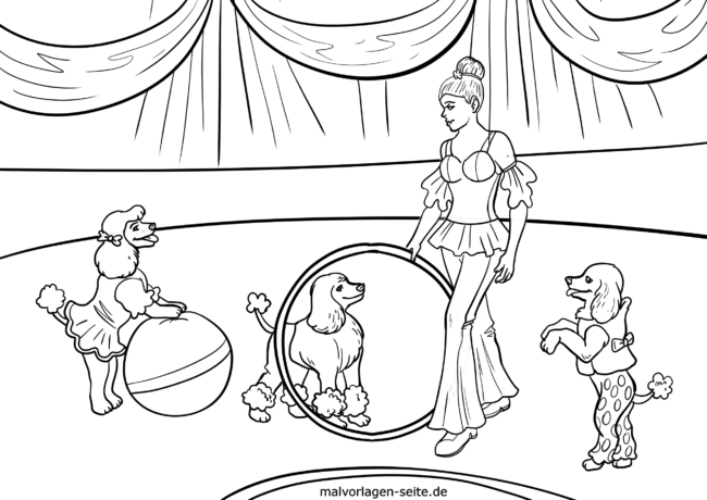 Coloring page Circus Manege