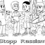 Coloring page against racism