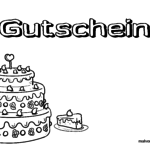 Birthday coupon for coloring - birthday voucher