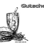Voucher fastfood invitation til farve