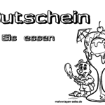 Voucher for eating ice cream Template for coloring