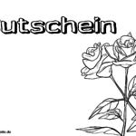 Voucher med roseskabelon til farvelægning