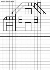 Tracing figures - house - learning to draw
