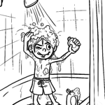 Coloring page showers | personal hygiene
