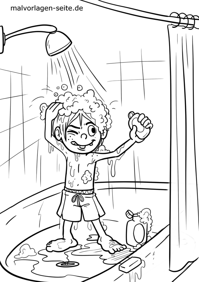 Coloring page showers