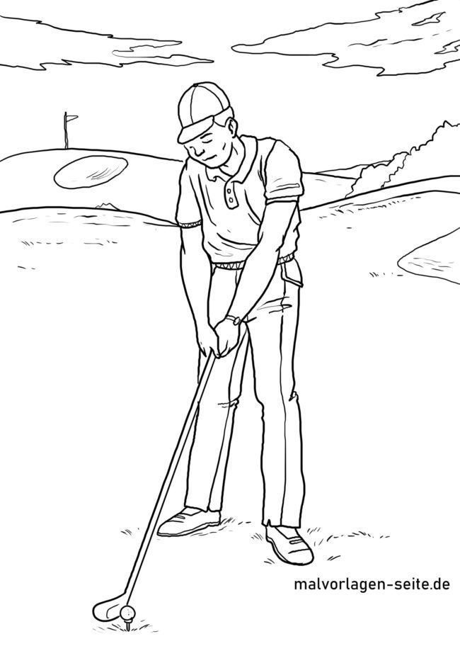 Coloring Game Golf