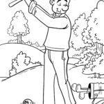 Malvorlage Golf spielen zum Ausmalen