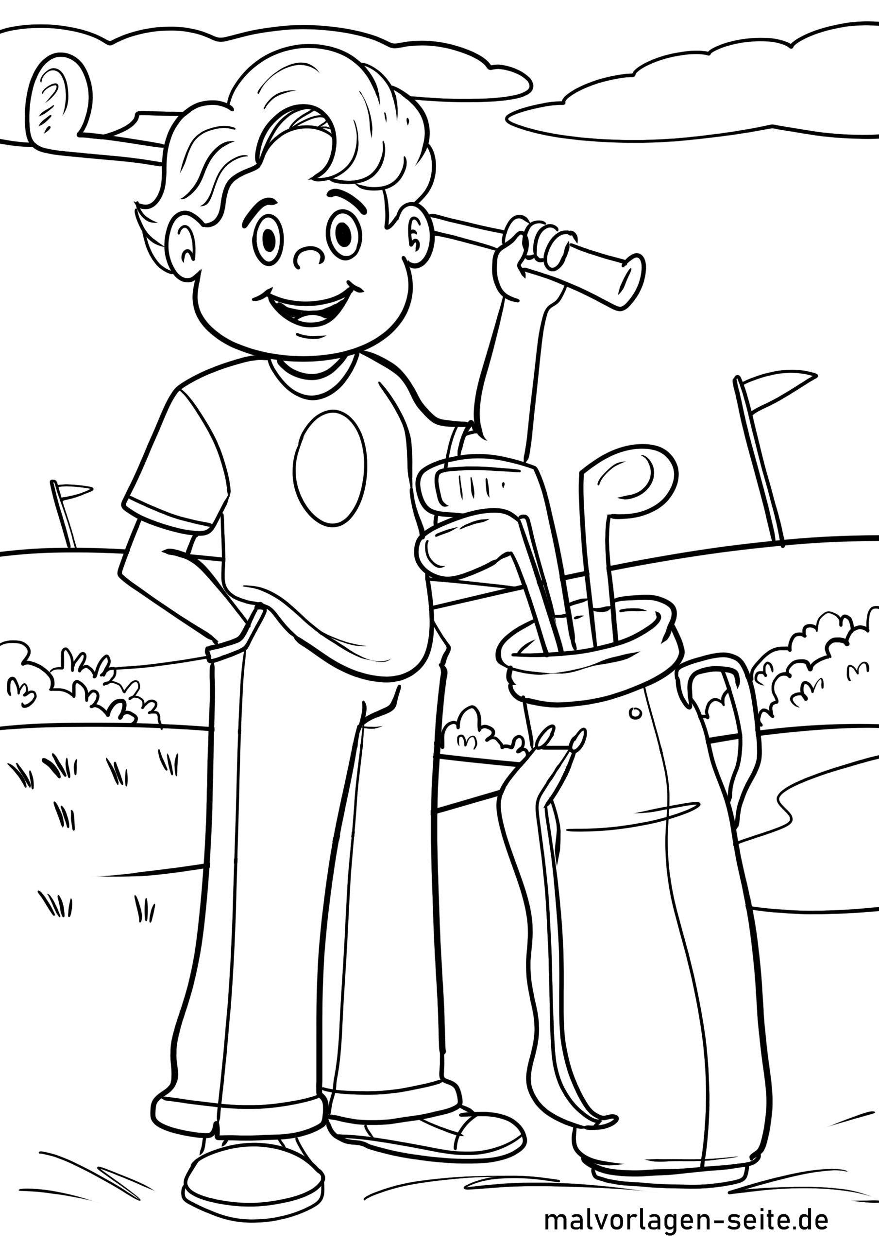 malvorlage golf spielen  sport  malvorlagen für kinder