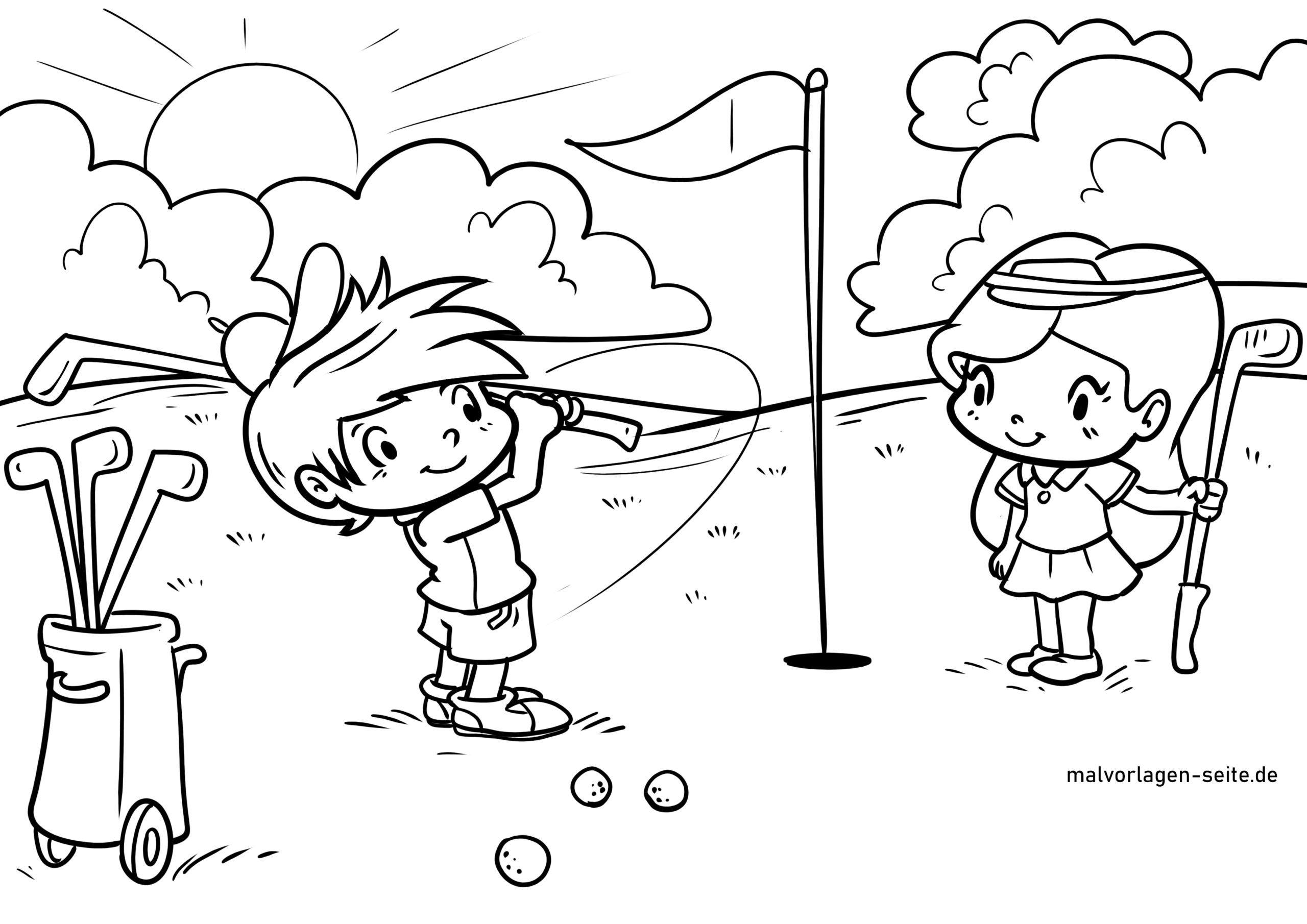 malvorlage golf spielen  sport  ausmalbilder kostenlos