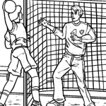 Coloriage gardien de but de handball à colorier