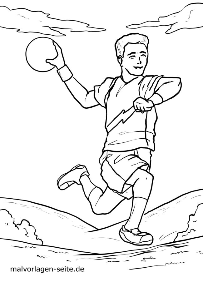 Malvorlage Handball Spieler