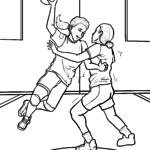 Malvorlage Handball Sport