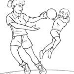 Coloring page to play handball Sports