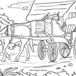 Coloring page carriage / horse-drawn carriage for coloring