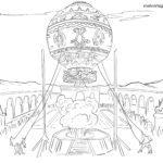 Страница за оцветяване Montgolfiere за оцветяване