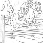 Coloring page riding equestrian sport Sports
