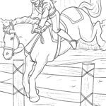 Coloring page riding horses