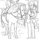 Coloring page riding Horse sport