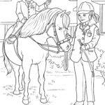 Malvorlage Reiten | Pferde Sport