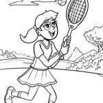 Coloriage tennis | Des sports